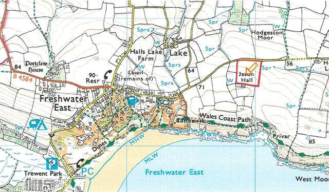 10 Acres of land at, Freshwater East, Pembrokeshire