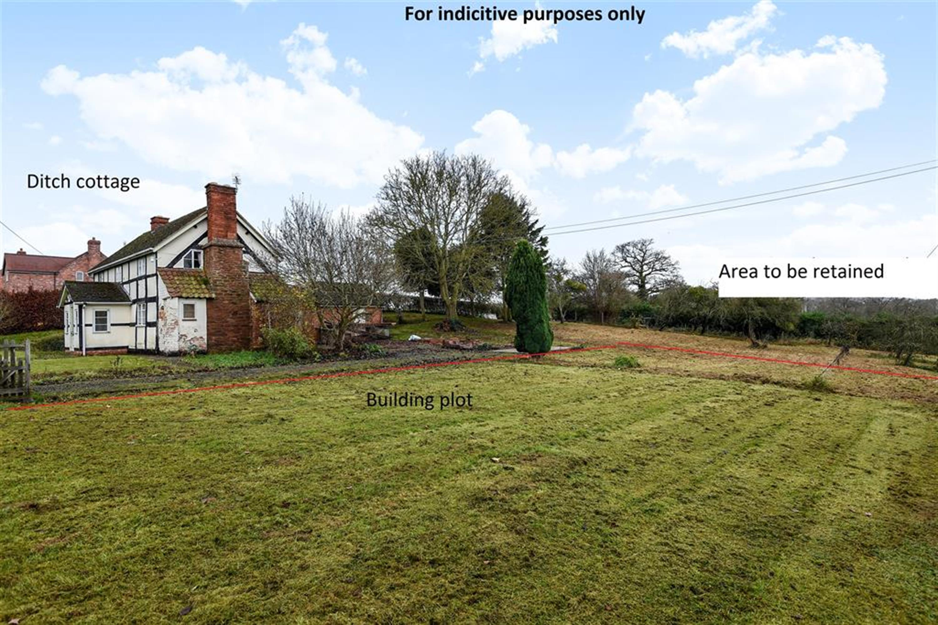 The Building plot, The Ditch , 44 Ashperton Road, Ashperton Nr Ledbury, Herefordshire , HR8 2RY